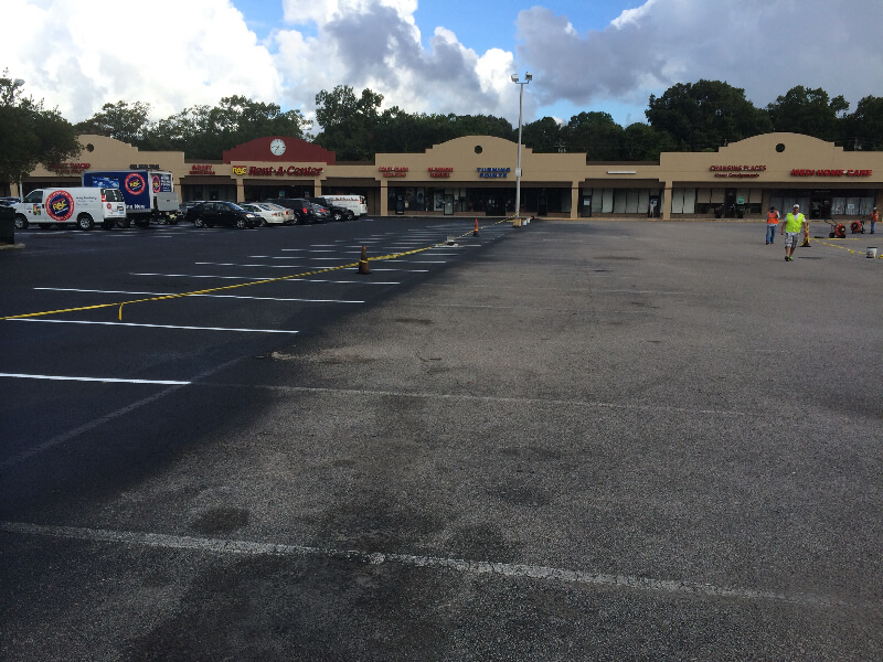 Sealcoating Commercial Parking Lot Charlotte Nc 21